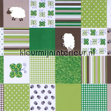 Sheep patchwork COUPON 10 mtr tendaggio sale curtains