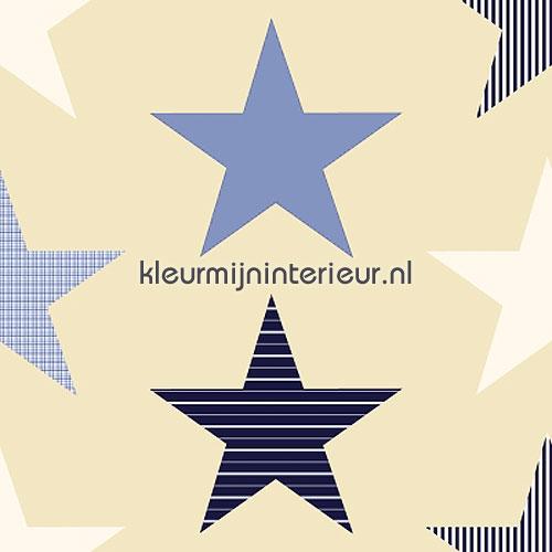 stars blue COUPON 6 mtr gordijnen 184610 aanbieding gordijnen Esta for Kids