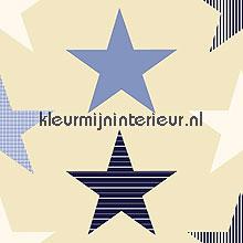 Stars blue COUPON 6 mtr gordijnen Esta for Kids behang