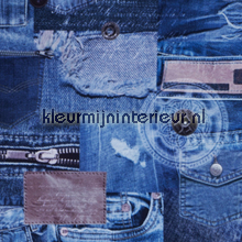 Jeans gordijnen meisjes