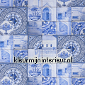Delfts Blauw curtains kitchen