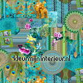 Asian turquoise tendaggio Tutti-immagini