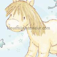 Pony gordijnen behang