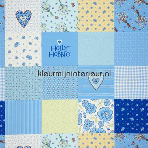 Holly hobbie set beige-blauw gordijnen HHERA.40.140 aanbieding gordijnen