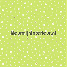 Happy flowers lime gordijnen Esta for Kids behang