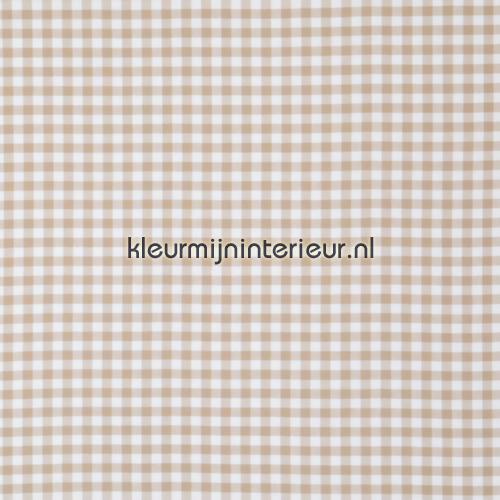Vichy beige ruit 1,5 cm COUPON 8 mtr gordijnen 45324-15 Nostalgisch