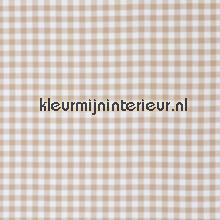 Vichy beige ruit 1,5 cm COUPON 8 mtr gordijnen behang