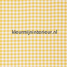 Vichy geel ruit 1,5 cm COUPON 4 mtr gordijnen behang