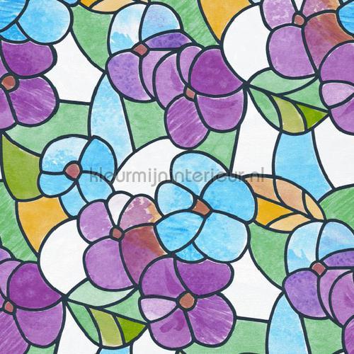 gekleurde bloemen self adhesive foil 200-2497 colored designs DC-Fix