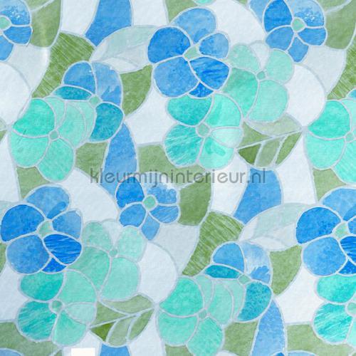 blauwe bloemen lámina adhesiva 200-2665 colored designs DC-Fix