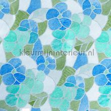 Blauwe bloemen plakfolie DC-Fix dessins gekleurd