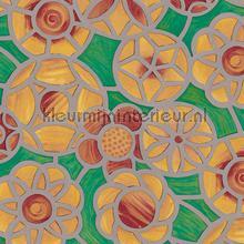 Cirkel bloemen geel feuille autocollante DC-Fix statique