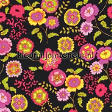 Bloemen zwart self adhesive foil Gekkofix all images