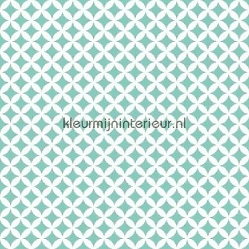 Retro turquoise self adhesive foil 13472 pattern Gekkofix