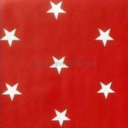 Star White On Red plakfolie SF0017 motieven Kitsch Kitchen