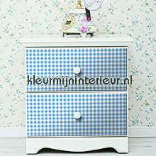 Vichy blauw feuille autocollante DC-Fix Room set photo's