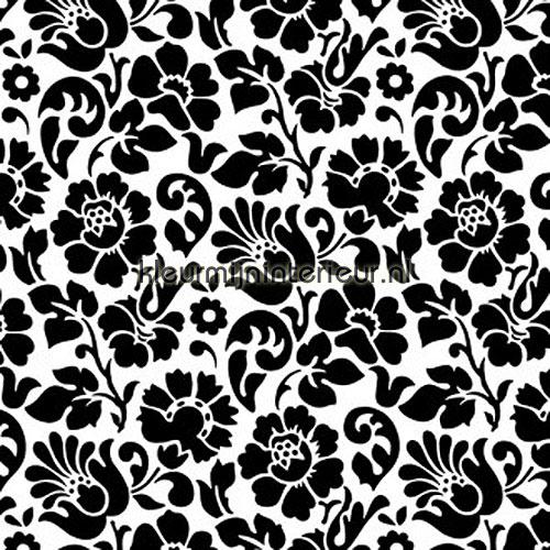 zwart wit bloemen lamina adhesiva 200-3098 basic motivos DC-Fix