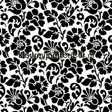 Zwart wit bloemen feuille autocollante DC-Fix Pierres Béton