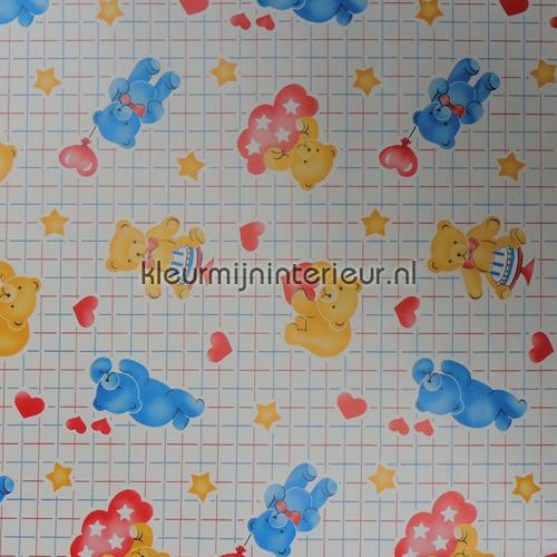 Gele en blauwe beertjes plakfolie 200-2297 aanbieding plakfolie DC-Fix