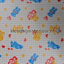 Gele en blauwe beertjes plakfolie DC-Fix 200-2297