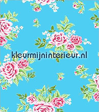 Rosy blauw plakfolie Gekkofix motieven