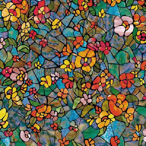 Raamfolie gekleurde bloemen lámina adhesiva 200-3006 colored designs DC-Fix