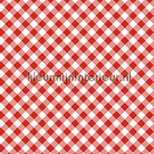 Diagonal Red self adhesive foil Gekkofix wood