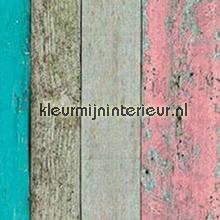 Ruw hout vrolijk gekleurd feuille autocollante Patifix Pierres Béton
