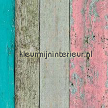 Ruw hout vrolijk gekleurd plekfollie Patifix Steen Beton