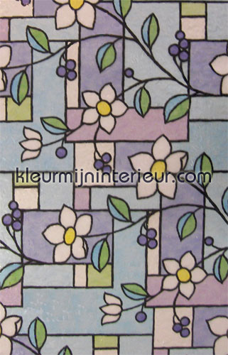 Zeer stevige kwaliteit bloem plakfolie gls4657 motieven gekleurd statisch Lineafix