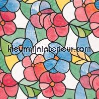 Gekleurde bloemen lámina adhesiva DC-Fix para ventanas estático