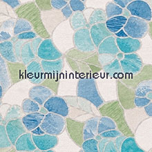 Blauwe bloemen lámina adhesiva DC-Fix para ventanas estático