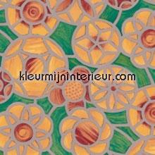 Cirkel bloemen geel plakfolie DC-Fix raamfolie