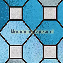 Stevige kwaliteit Glas in lood blauw feuille autocollante Patifix colored designs