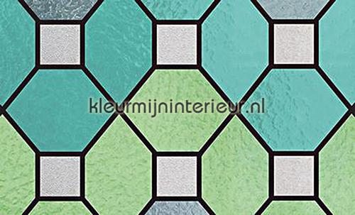 Stevige kwaliteit Glas in lood groen plakfolie 34-2880 motieven gekleurd statisch Patifix