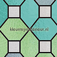 Stevige kwaliteit Glas in lood groen self adhesive foil Patifix static