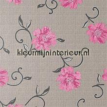 Viviane greige tafelzeil DC-Fix bloemen