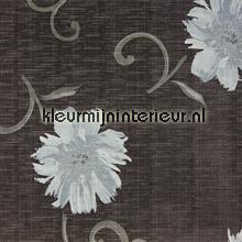 Viviane Antraciet tafelzeil bloemen