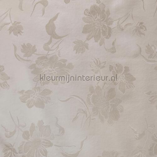 Bloemmotief ecru manteles de hule damasco Kleurmijninterieur