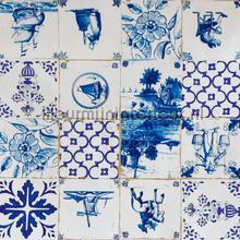 Tegels delftsblauw oilcloth Kleurmijninterieur decors prints