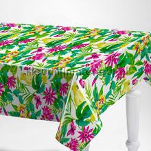 Exotische bloemen table covering Kleurmijninterieur wood