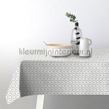 Maze grijs tafelzeil Kleurmijninterieur modern