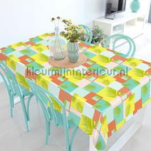 Patchwork met palmtakken tafelzeil Kleurmijninterieur modern