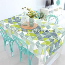 Ruiten blauw en groen tafelzeil Kleurmijninterieur modern