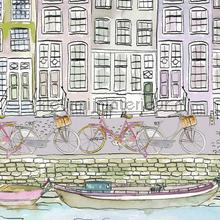 Amsterdamse grachtenpanden nappes Kleurmijninterieur transparent