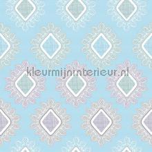 Blauwe ruiten tafelzeil Kleurmijninterieur modern