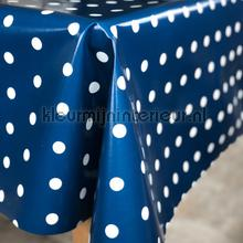 Blauw met witte stippen tafelzeil Kleurmijninterieur modern