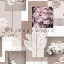 Bloemen en bladeren manteles de hule Kleurmijninterieur transparente