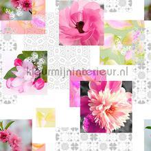 Roze bloemen tischbelag Kleurmijninterieur uni farben