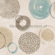 Abstracte cirkels beige tafelzeil Kleurmijninterieur modern